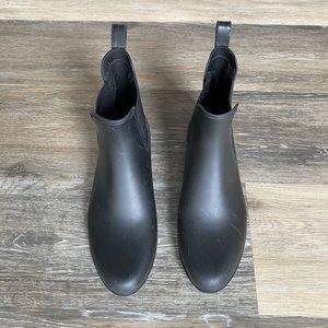 J.Crew rubber rain boot.